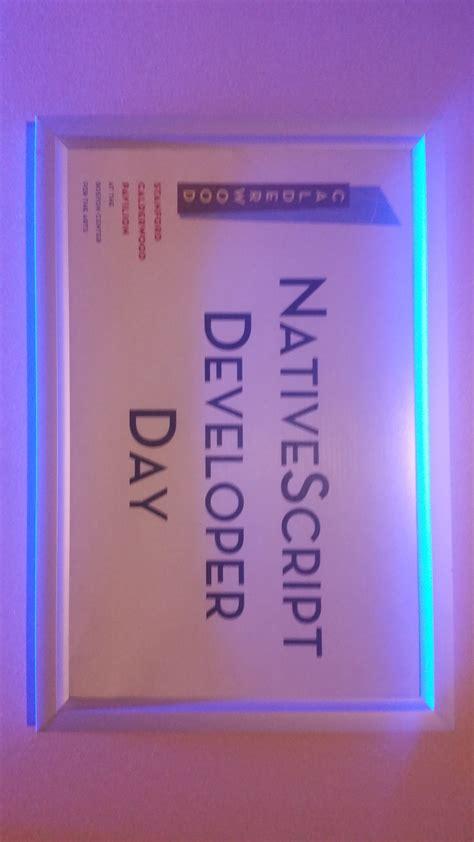 tutorial nativescript nativescript developer days fluent reports and other
