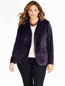 Ways to wear a plus size velvet blazer in style page 4 of 5