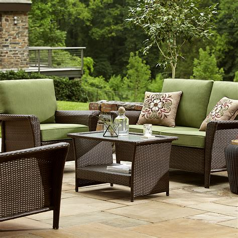 sears ty pennington patio furniture ty pennington style parkside seating set in green sears