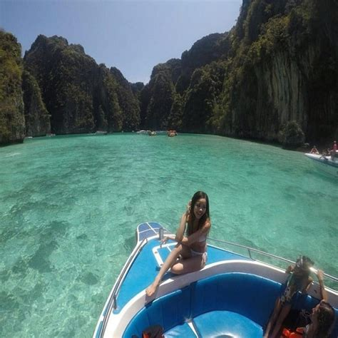 speed boat to phi phi island krabi to phi phi tour by speedboat snorkeling thailand
