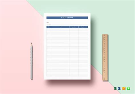 agenda template for apple pages daily schedule template in word excel apple pages numbers