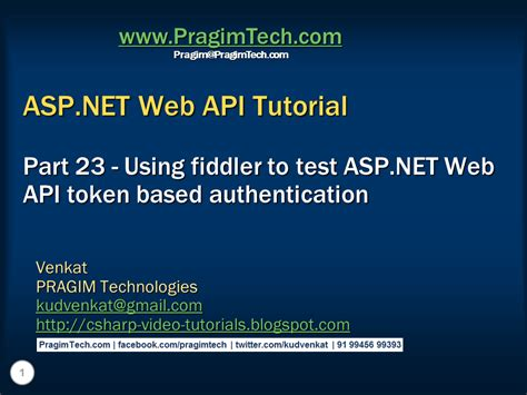 tutorial asp net using c sql server net and c video tutorial using fiddler to