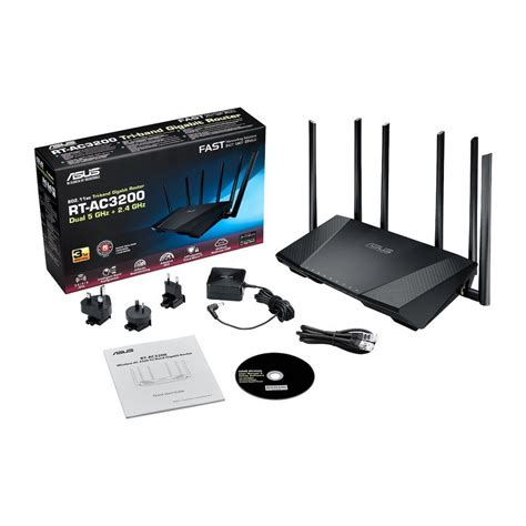 Router Wifi Tri asus rt ac3200 router wifi tri band gigabit usb 3 0