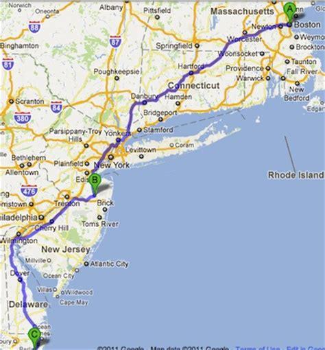 maryland boston map boston to freeholdm nj to newark md