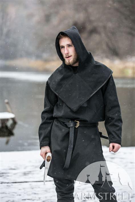 ragnvaldur  traveller canvas jacket  viking hood