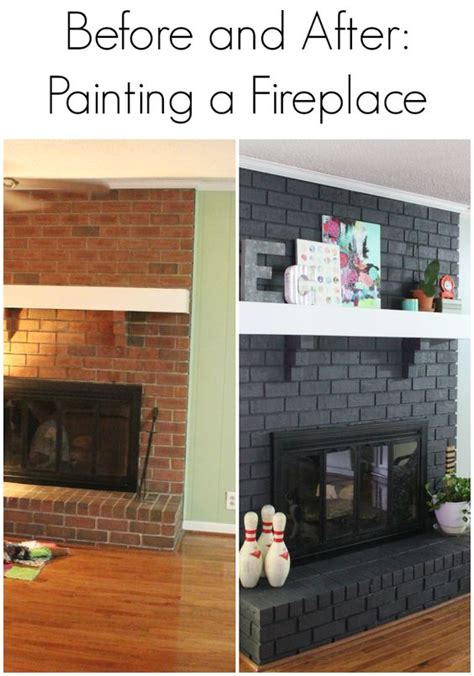 painted brick fireplace before and after image result for painted brick fireplace before and after