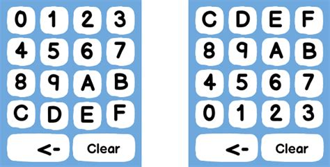 keyboard layout hex codes interaction design layout for on screen hexadecimal