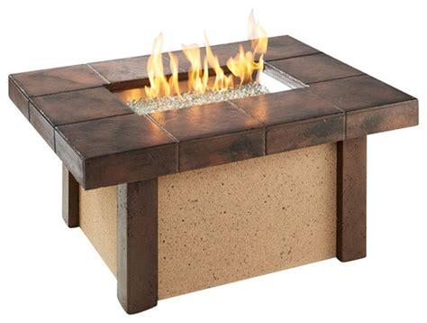 Outdoor Greatroom Rivers Edge Chat Height Gas Fire Pit Coffee Table With Pit