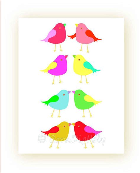 free printable bird wall art cute birds wall decor printable love bird from borndigitaly on
