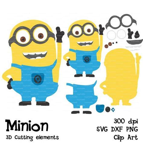 minion template minions despicable me svg dfx png cutting file