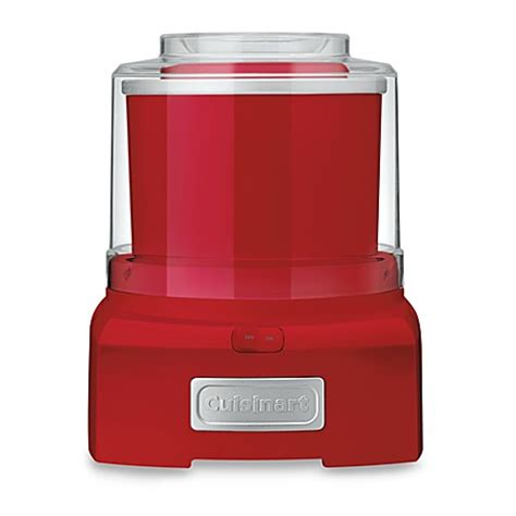 bed bath and beyond cuisinart buy cuisinart 174 ice cream and sorbet maker in red from bed