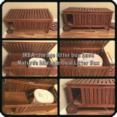 keeping litter box in bedroom storage benches bedroom doors and litter box on pinterest
