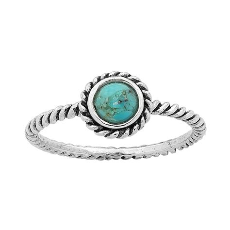 turquoise birthstone sterling silver turquoise december birthstone ring with