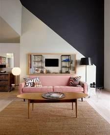 Superbe Peindre Un Salon En Deux Couleurs #1: 00-salon-peinture-glyc%C3%A9ro-blanc-gris-idee-couleur-peinture-murale-tapis-en-rotin.jpg