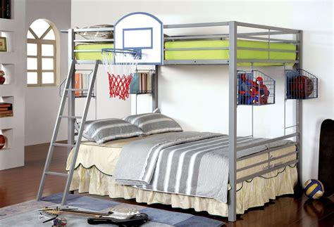 Grey Metal Bunk Beds Athlete Light Gray Metal Bunk Bed From Furniture Of America Cm Bk927bskt