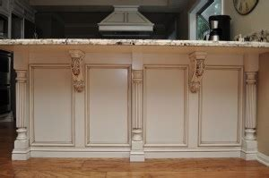 kitchen island with posts combining two unlikely designs reeded island posts and