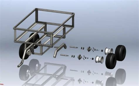 Home Design Blueprints by Atv Trailer Plans For A Walking Beam Atv Tub Trailer