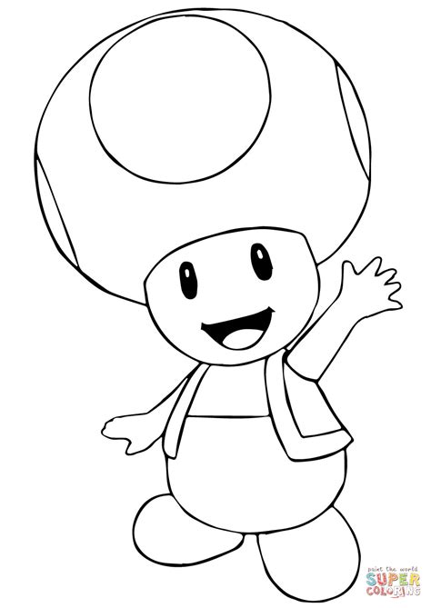 coloring pages mario toad toad coloring pages from super mario coloring home