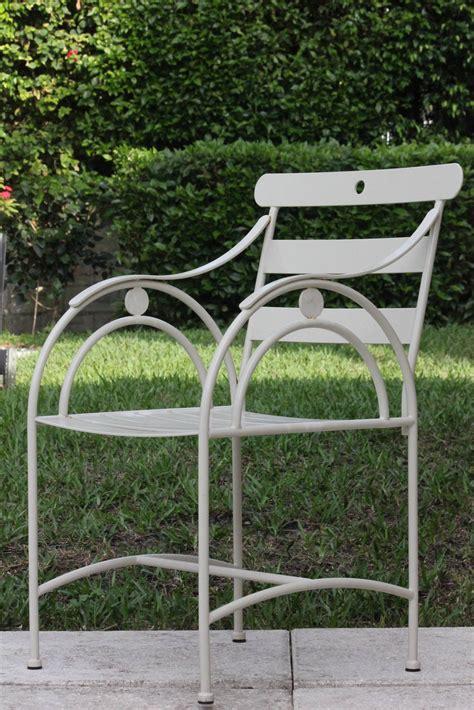 deco garden furniture set of six designer sculptural deco garden chairs mid