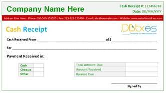 Editable Receipt Template Cash Receipt Template Samples And Templates
