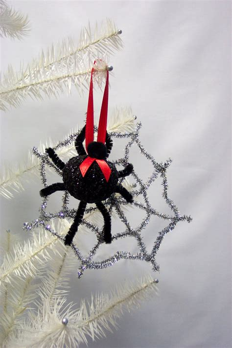 christmas spider ornament silver web by westtwincreationsllc