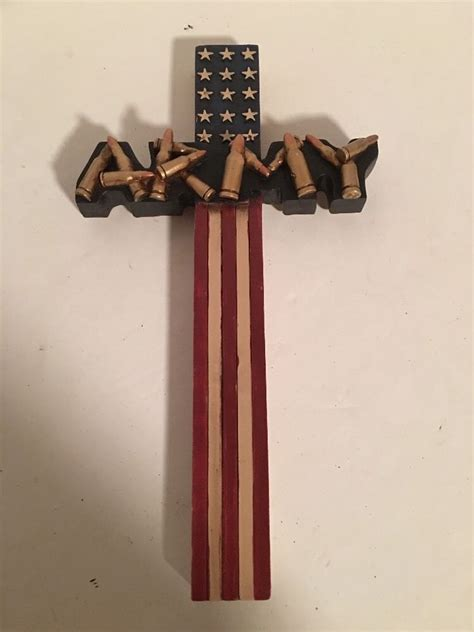 coolest cross army flag and united states army us flag bullets design 12 quot x 6 5