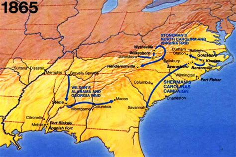 Civil War 1865 Timeline Maps and Exhibits