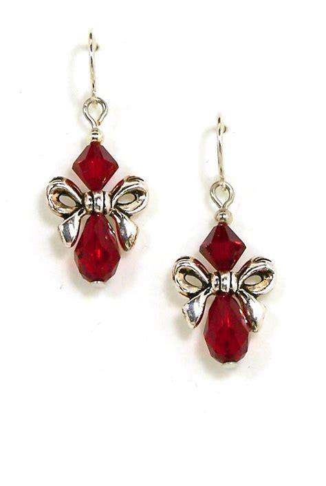swarovski bow earrings