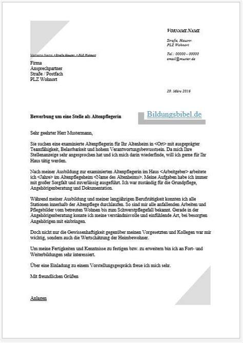 Praktikum Bewerbung Altenheim bewerbung altenpflegerin altenpfleger bewerbungsschreiben lebenslauf downloaden