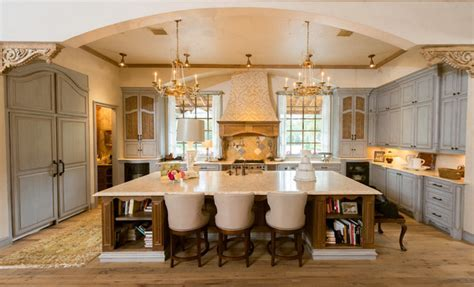 French Provincial Kitchen   Mediterranean   Kitchen   houston   by Jonathan Ivy Productions