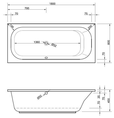 rechteckige badewanne rechteckige badewanne 180 x 80 cm mit 220 berlauf seitlich