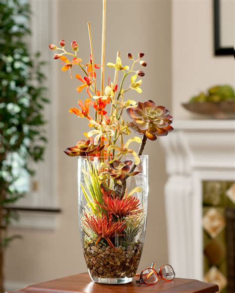 stunning fake flower centerpieces cheap decorating ideas interior beautiful design fall silk arrangements sunflower