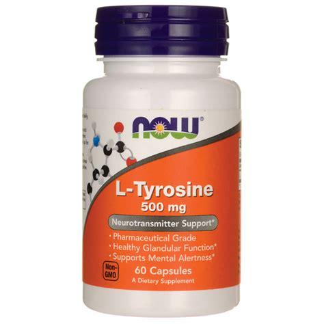 supplement l tyrosine now foos l tyrosine 60 caps 500 mg