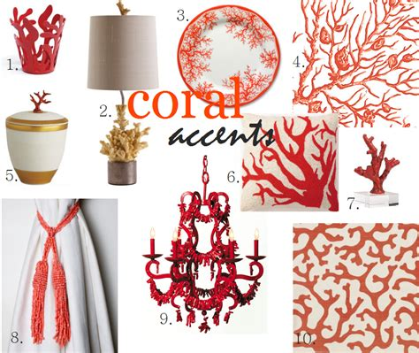 friday find summer decorating with coral accents