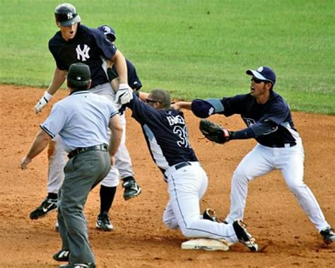 baseball benches clear benches clear as yankees rays rivalry rs up ny daily news