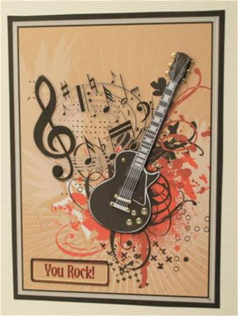 printable birthday cards with guitars guitar and music decoupage craftsuprint