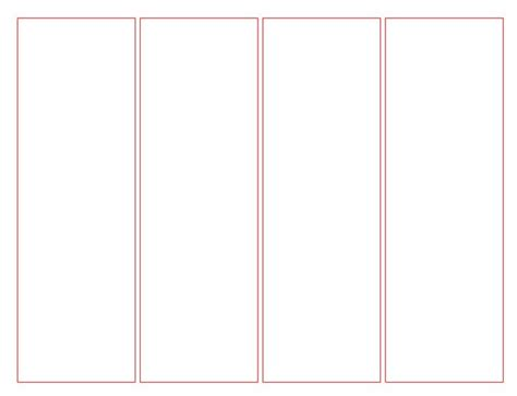 Free Printable Bookmark Templates blank bookmark template for word this is a blank