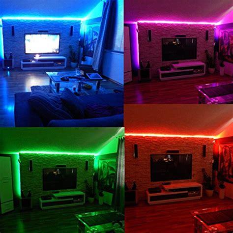led light strips for room tingkam waterproof 5050 smd 32 8ft 10m rgb led light kit color changing black pcb rope