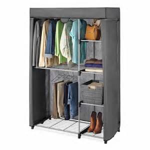whitmor deluxe covered hang utility closet