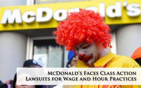 hundreds of women join class action lawsuit claiming wen class action lawsuits brought against mcdonald s for wage