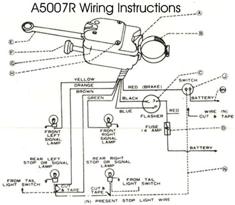 golf cart turn signal wiring diagram wiring diagram universal turn signal wiring diagram brake