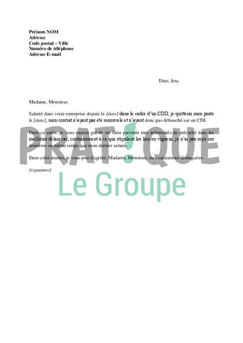 Demande De Paiement Lettre lettre de demande de paiement de l indemnit 233 de pr 233 carit 233
