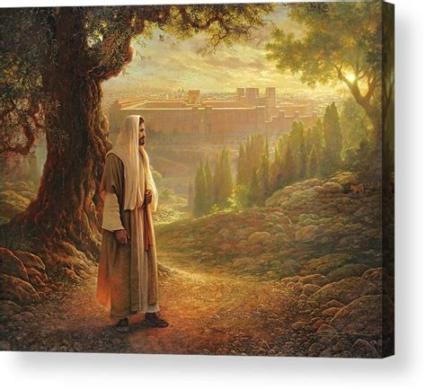 acrylic painting of jesus wherever he leads me acrylic print by greg