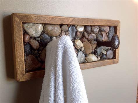 rustic bathroom towel racks coat rack or towel rack made from railway spikes beach