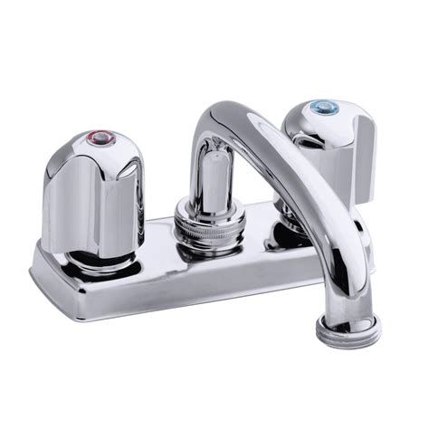 Polished Chrome Faucet by Trend 4 In 2 Handle Low Arc Bathroom Tray Faucet In