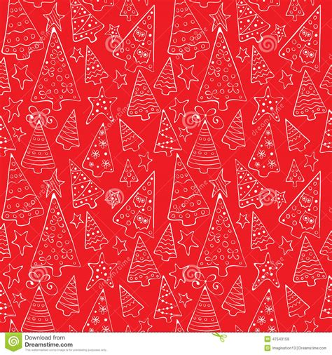 background pattern trees pattern with funny christmas trees stock vector image