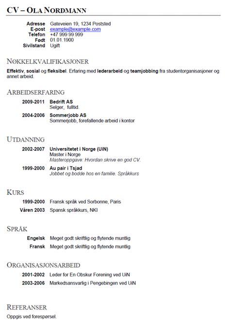 Mcdonalds Resume Sample by Eksempel P 229 Cv Hvordan Skrive Cv