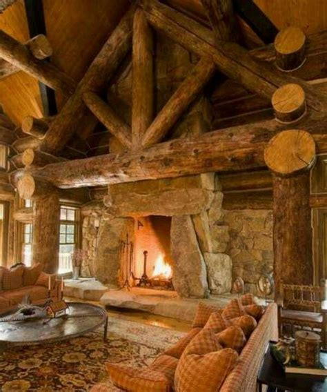 Cabins With Fireplaces by Rustic Cabin With Fireplace For The Home