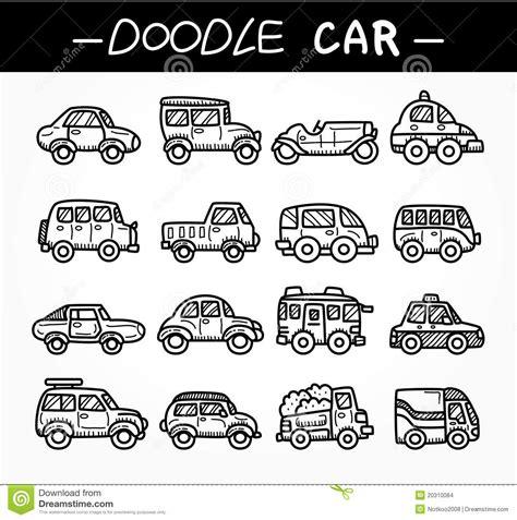 doodle car doodle car icon set stock images image 20310084