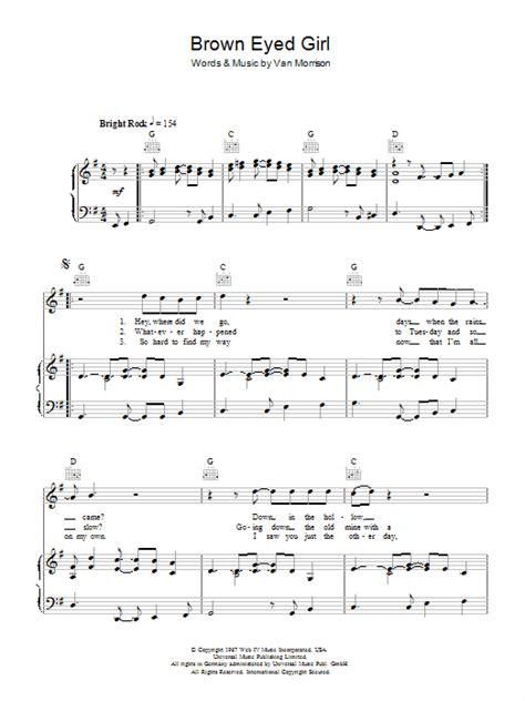 ukulele tutorial brown eyed girl brown eyed girl sheet music direct